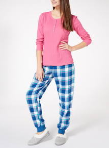 Henley Plaid Pyjama Set