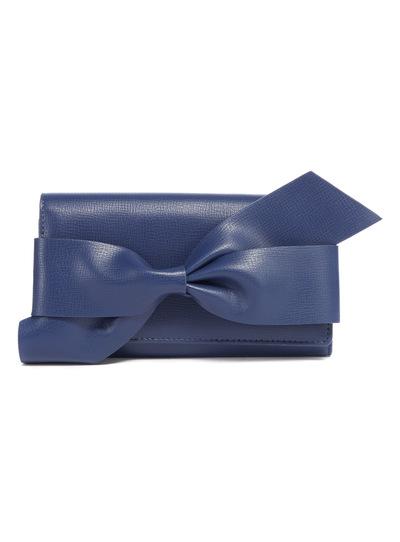 Navy Workwear Bow Purse