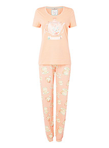 Coral 'Mum, You're Tea-rrific' Gift Pyjamas