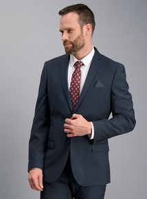 Petrol Blue Slim Fit Suit Jacket