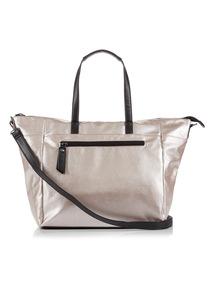 Pale Pink Metallic Zip Bag