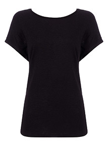 Black Strap Detail Spa T-Shirt