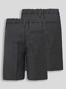2 Pack Grey Classic Shorts (3-12 years)