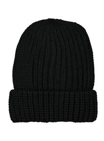 Black Rib Beanie Hat