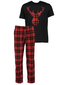 Christmas Black & Red Stag Tartan Pyjamas