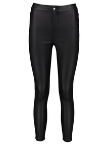 PETITE Black Coated Skinny Jeans