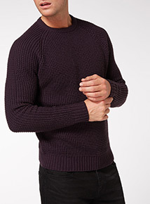 Purple Pineapple Stitch Jumper