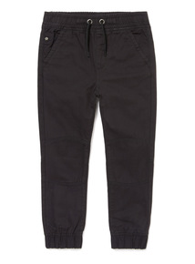 Black Rib Waist Trousers (3-14 years)