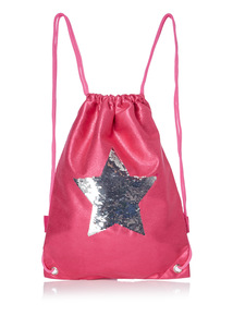 Pink Reversible Sequin Star Bag