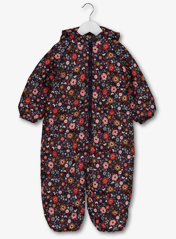 94183ce80876 Kids Multicoloured Floral Snowsuit (9 Months - 6 Years)