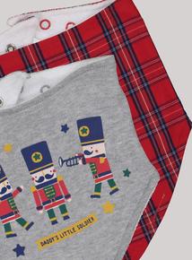 Multicoloured Little Soldier Hanky Bibs 2 Pack (One Size)