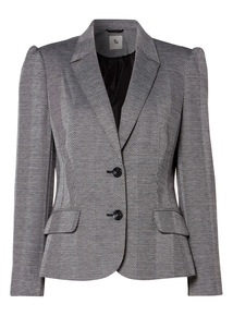 Grey Textured Blazer
