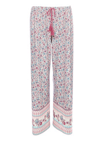 Multicoloured Paisley Wide Leg PJ Bottoms