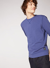 GFW Blue Loopback Slub Sweatshirt