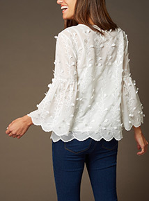 Premium 3D Floral Embroidered Top