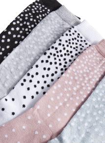 Dotty Patterned Socks 5 Pack