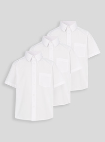 Unisex White School Shirts 3 Pack (3-16 years)