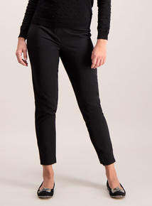 Black Tapered Slim Leg Trousers