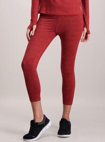 Red Marl Cropped Leggings