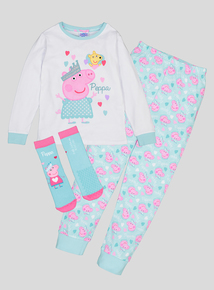 Peppa Pig Fairy Multicoloured Long-Sleeved Pyjamas With Matching Socks (1-6 Years)