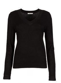 Online Exclusive Black V-Neck Jumper