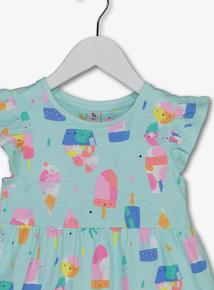b2cdce6a8faa Multicoloured Ice-Cream Jersey Dress (9 Months - 6 Years)