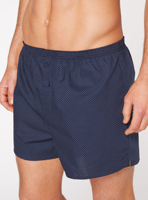 Blue Printed Woven Boxers 3 Pack