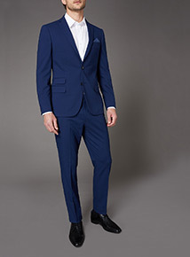 Online Exclusive Cobalt Blue Stretch Suit Trousers