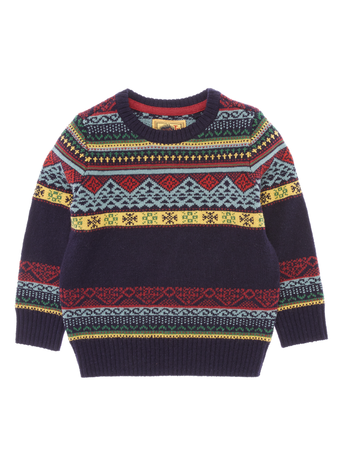 All Boy's Clothing Boys Navy Fairisle Jumper (9 months-5 years ...