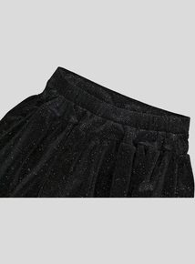 Black Glitter Velour Shorts (3-14 years)
