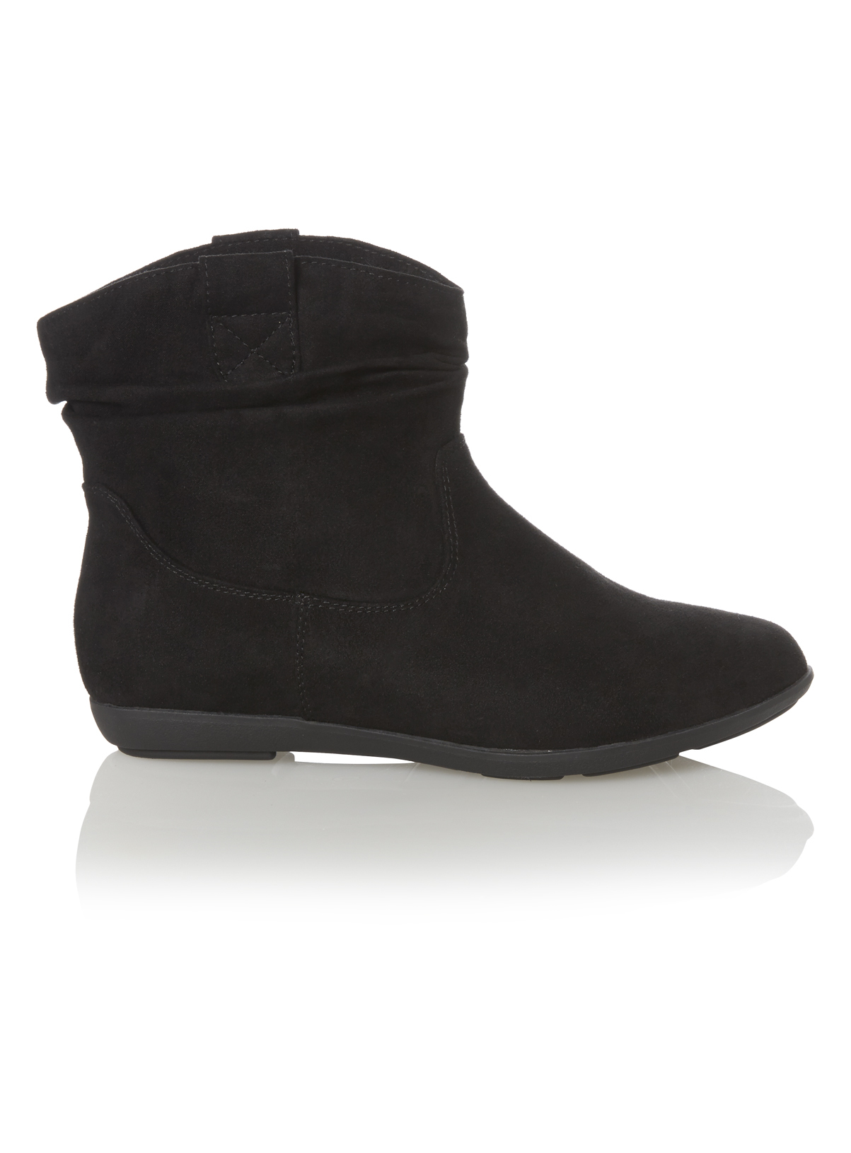 Womens Black Slouch Ankle Boot   Tu clothing