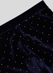 Midnight Blue Gold Sparkle Legging (3-14 years)