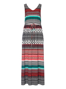 Multicoloured Tie Dye Maxi Dress