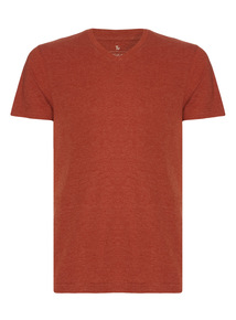 Dark Orange V-Neck Tee
