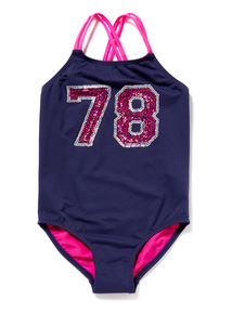 Navy Sequin 78 Swimsuit (4-14 years)