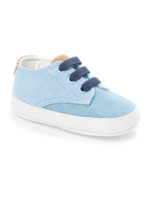Blue Lace Up Trainers (0 - 18 months)