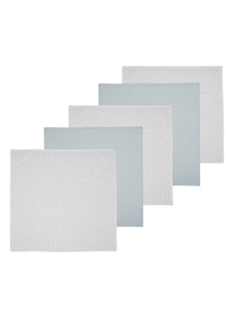 Blue Muslin Squares 5 Pack