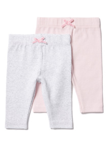 2 Pack Ribbed Legging (0-12 months)