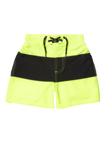 Boys Yellow Neon Swim Shorts (1 - 14 years)