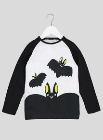 Halloween White Bat T-Shirt (9 months-6 years)