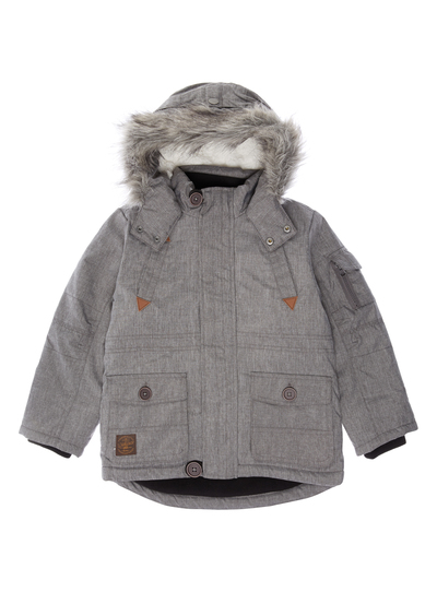 All Boy's Clothing Boys Grey Parka Jacket (3-12 years) | Tu clothing