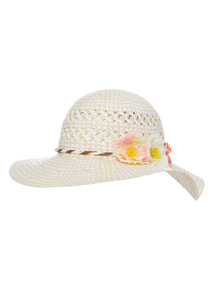 Multicoloured Flower Floppy Hat (1 - 12 years)