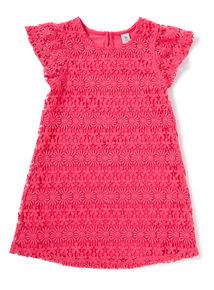 Pink Lace Shift Dress (3-14 years)