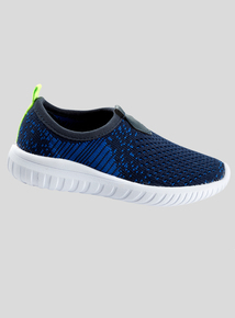 Navy Knitted Slip On Trainers (6 Infant-4 Child)