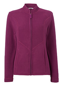 Online Exclusive Purple Zip Up Fleece