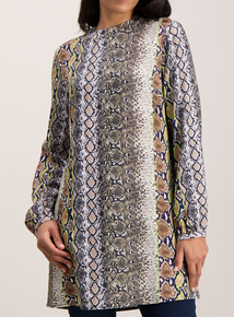Brown Snake Print Tunic