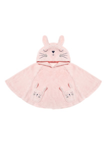 Pink Arctic Bunny Poncho Cape  (4-13 years)
