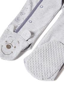 Grey Disney Winnie The Pooh Sleepsuit (Newborn-24 months)