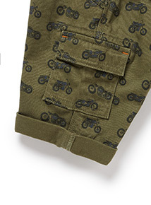 Khaki Printed Cargo Shorts (9 months-6years)
