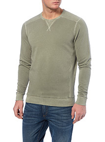 Khaki Crew Neck Jumper